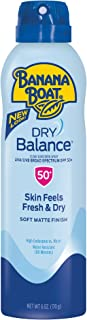 Banana Boat Sunscreen Dry Balance Broad Spectrum Sunscreen Spray, SPF 50+ - 6 Ounce (Packaging May Vary)