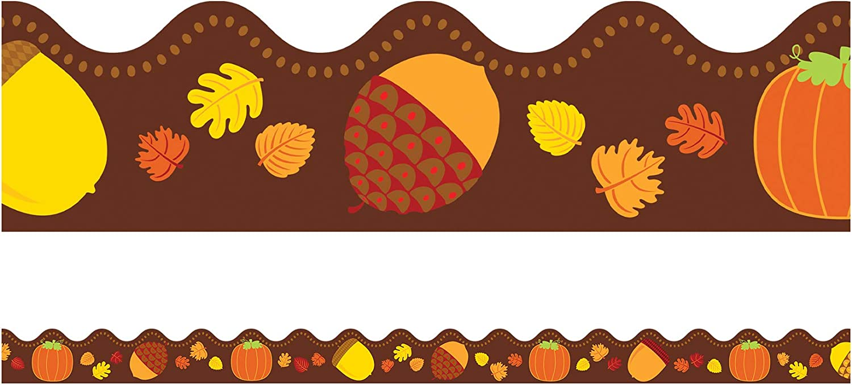 Acorns and Pumpkins Large-scale sale Bulletin Board Dellosa All stores are sold Borders Carson Class