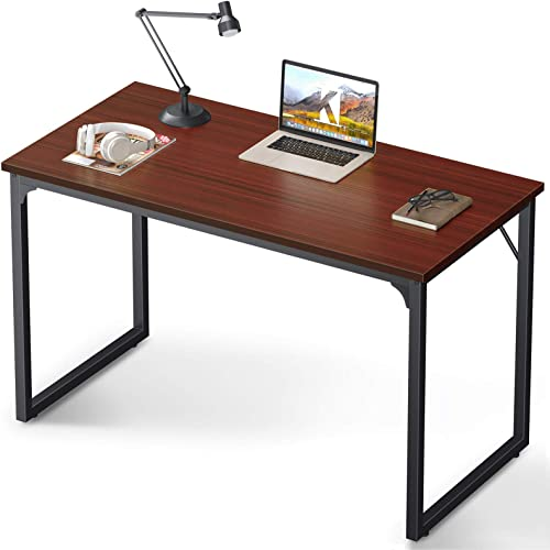 Amazon Com Coleshome 47 Inch Computer Desk Modern Simple Style Desk For Home Office Study Student Writing Desk Teak Kitchen Dining