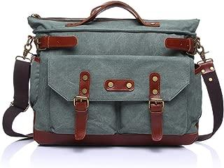 SGJFZD Canvas Leisure Travel Computer Bag Men's Messenger Bag Shoulder Portable Multifunction Bag Briefcase (Color : Blue, Size : M)