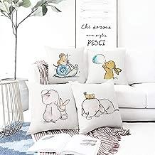 Comidox 1Pcs Cute Cartoon Animal Decorative Throw Pillow Case 18x18 Inch Square Fluff Cushion Case for Sofa Bedroom Car Many Pattern Options