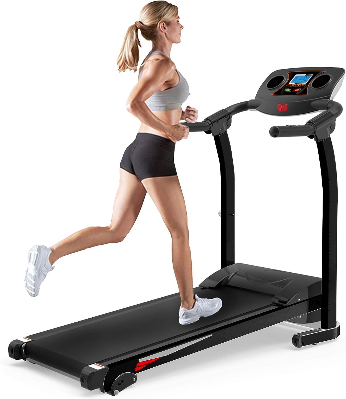 JULYFOX Home Folding Treadmill 送料無料でお届けします with White Incline H Quiet 期間限定特別価格 270lb