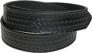 Men's Leather Basketweave Hook and Loop Mechanics Belt