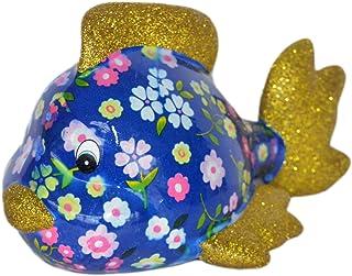 Pomme Pidou Skarbonka ryby ciemnoniebieska kwiatowa skarbonka ryby świnka skarbonka prezent pieniężny