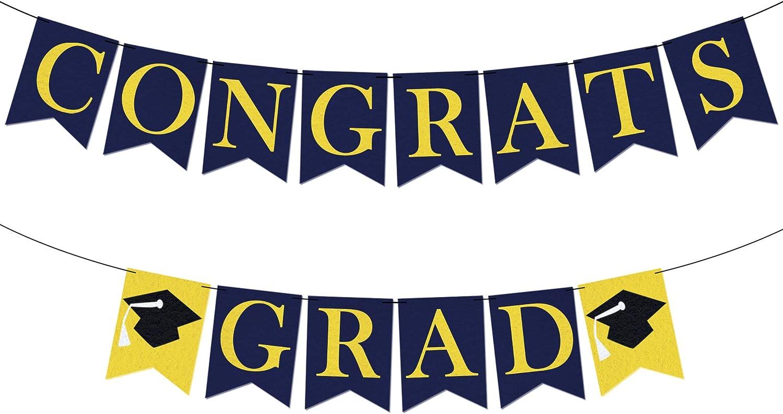 Felt Congrats Grad Graduation Columbus Mall Banner B DIY Congratulation - No Columbus Mall
