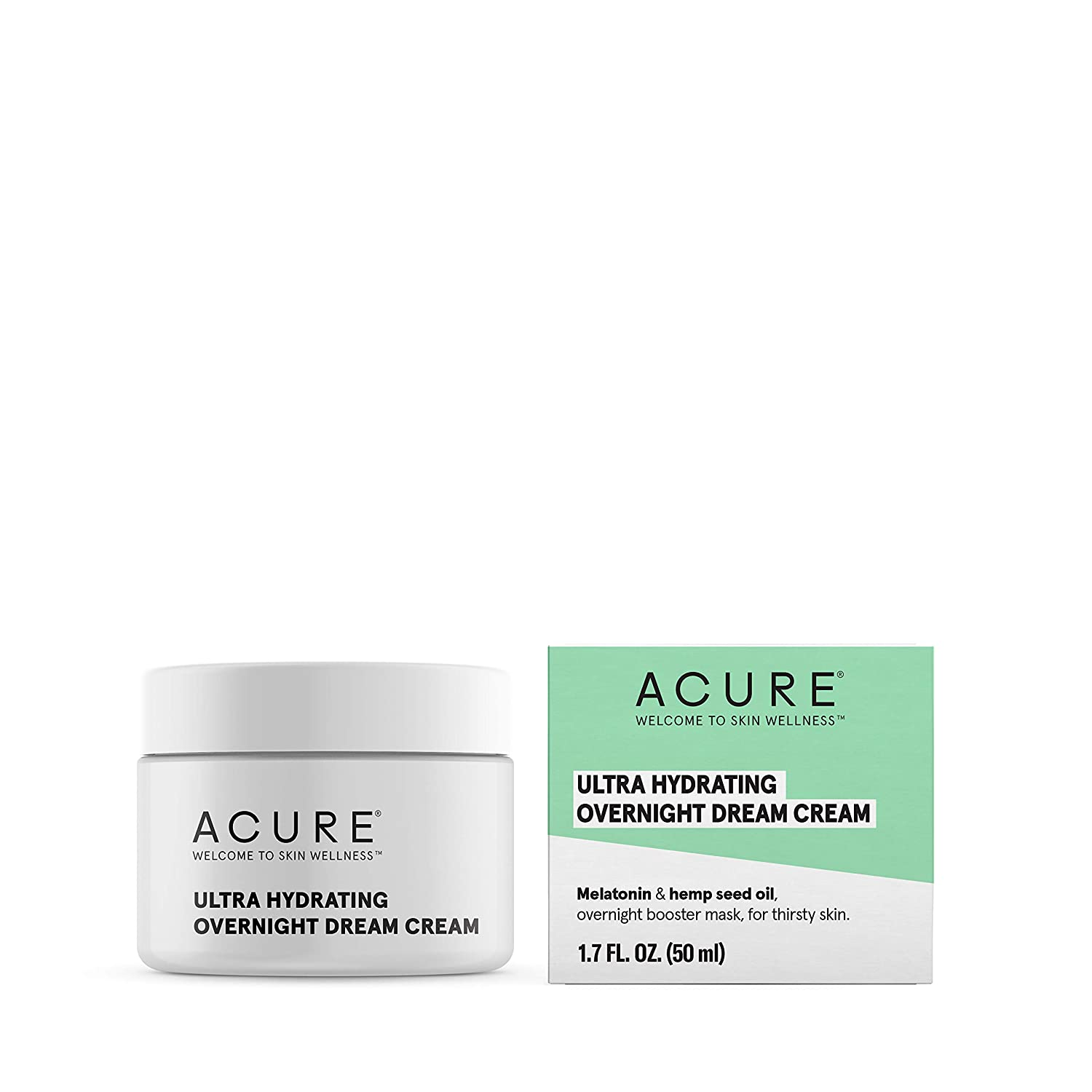 Acure Ultra Hydrating Overnight Dream Cream, 100% Vegan, Intense Moisture For Super Thirsty Skin, 1.7 Fl Oz : Beauty & Personal Care