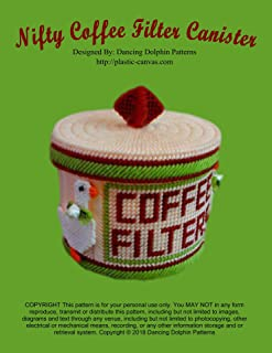Nifty Coffee Filter Canister: Plastic Canvas Pattern
