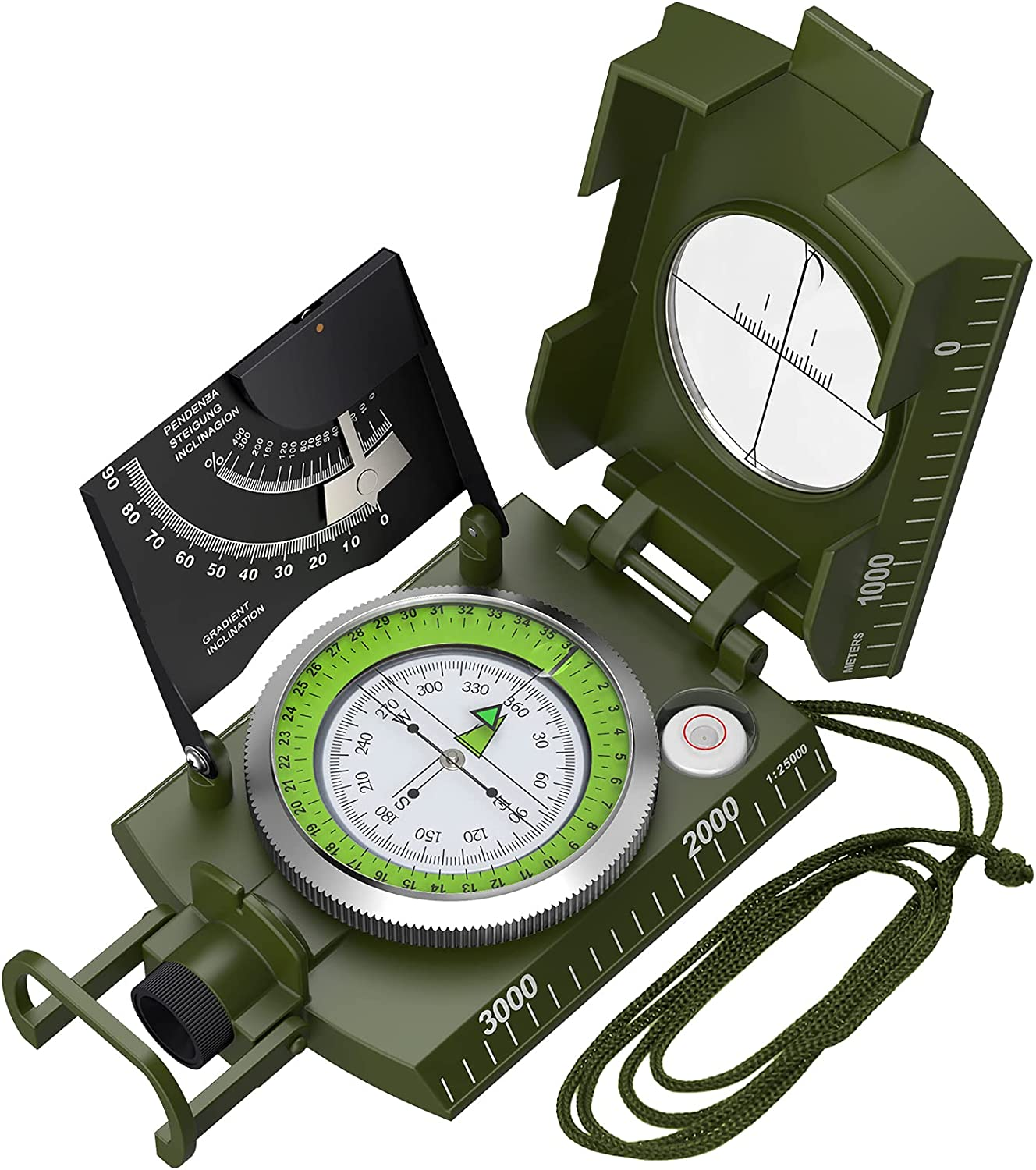 Proster 5 ☆ popular IP65 Challenge the lowest price Compass with Professional Sighting Clinometer Milit