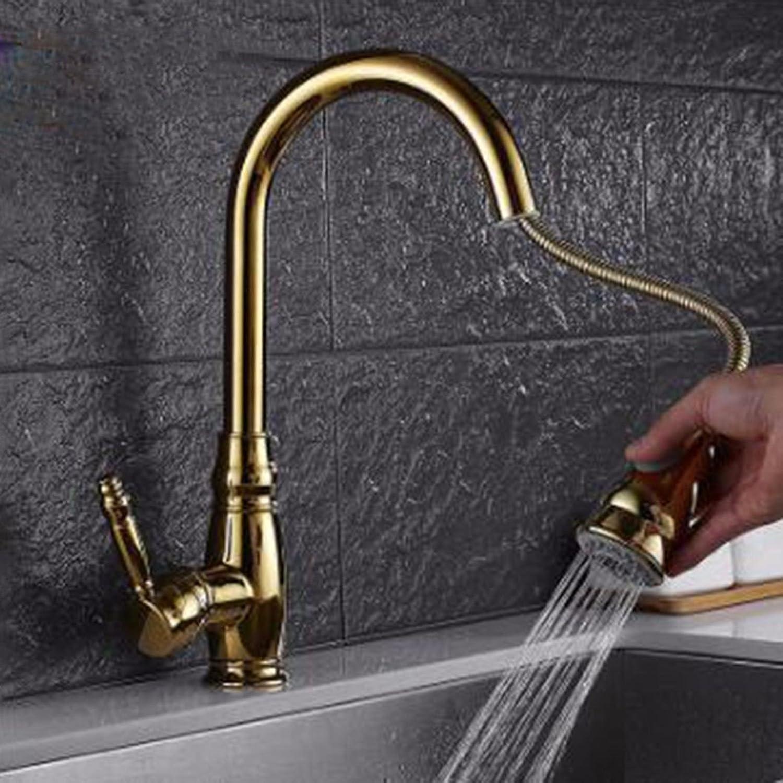 JFBZS-kitchen sink taps golden Kitchen Cold Hot Water Faucet Basin Faucet