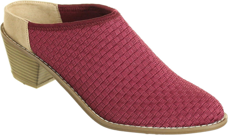 Zee Alexis Womens Michelle Clog shoes Cranberry
