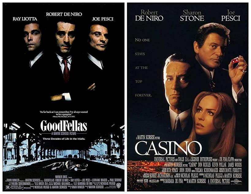 Gifts Delight Laminated 22x17 Poster: Movie Poster - Costume - Whats About The Shirt Collars in Goodfellas 1990 and Casino 1995 - Movies TV