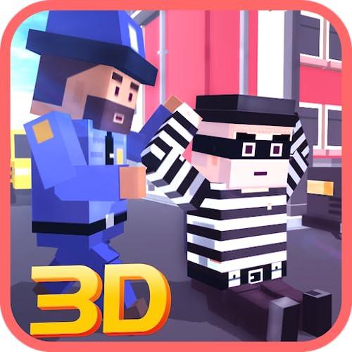 Terrorista vs comando gangster luta simulador de aventura missão: policiais blocky vs ladrões cena do crime chamada dever criminal fuga jogo 3d da missão 2018