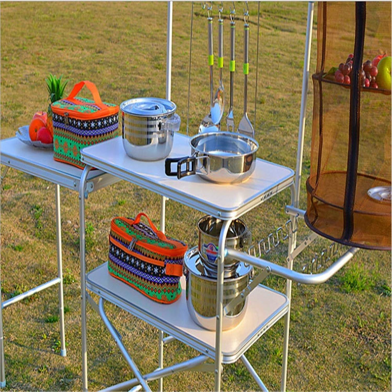 Susulv Geeignet für Camping im Freien oder Mobile Küche Lagerung zum Falten von tragbaren Regalen. B07PT3RXKN  Geeignet für Farbe