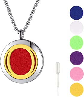 Sponsored Ad – FindChic Aromatherapy Oil Necklace for Women and Men Stainless Steel Initial Letter Aroma Perfume Pendant N...