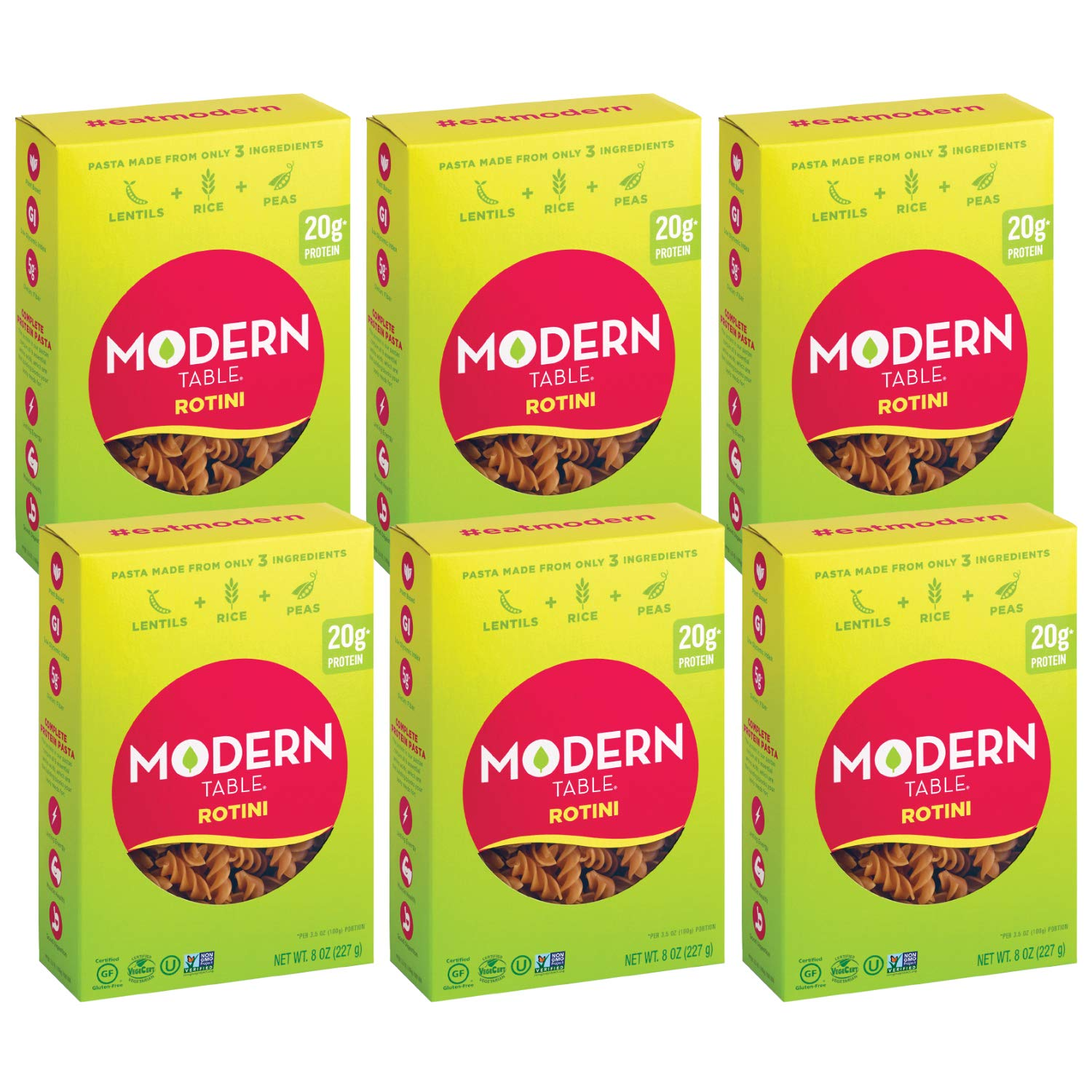 Modern Elegant Table Complete Protein Lentil Pasta 6 In a popularity Glut Rotini Count