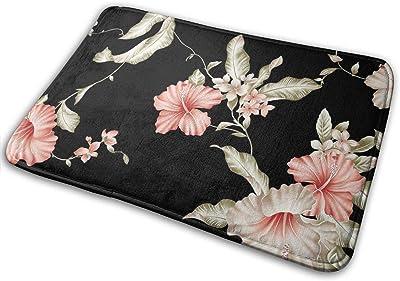 Non-Slip Doormats Floral Entrance Rug Indoor/Outdoor Carpet Absorbs Moisture Washable Dirt Trapper Mats
