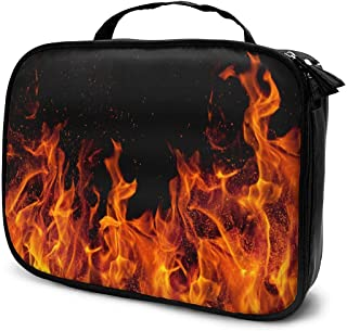 Organizer Bag,Portable Makeup Bag, FIRE And Brimstone Cosmetic Bag,Toiletries Bag For Travel/Business/GO Abroad