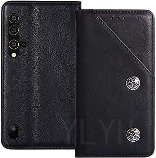 YLYT カバー 合皮 Blackview BV9900 Pro 5.84 inch 耐汚れ ポーチ 保護する Cover Case シリコーン TPU Silicone スタンド レザー カード収納 財布 ケース 手帳型 ブラック
