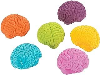 Fun Express Brain Shaped Erasers (Set of 24) Halloween Pencil Accessories