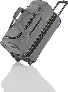 travelite 2-Rad Trolley Reisetasche Gr. L mit Dehnfalte, Gepäck Serie BASICS: Weichgepäck Reisetasche mit Rollen mit extra...