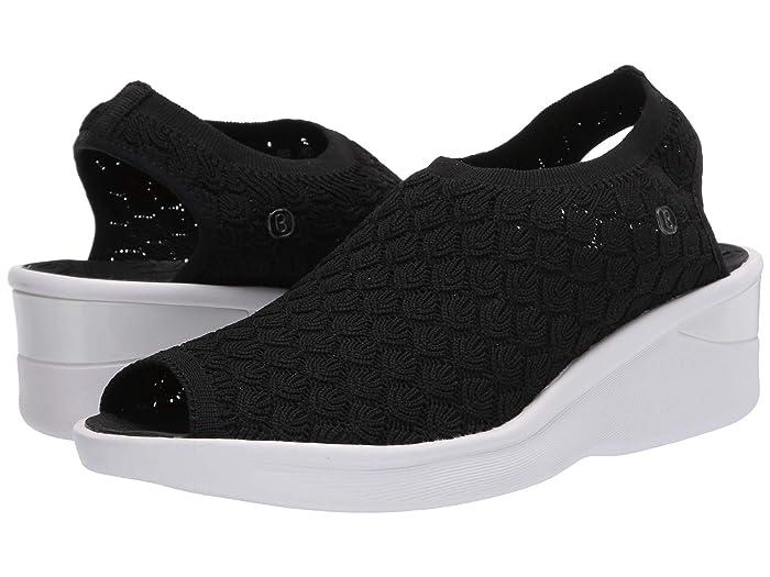 Bzees  Secret (Black Crochet Knit) Womens Sandals