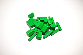 YorksGamePieces Green Wood Replacement Pieces for Settlers of Catan