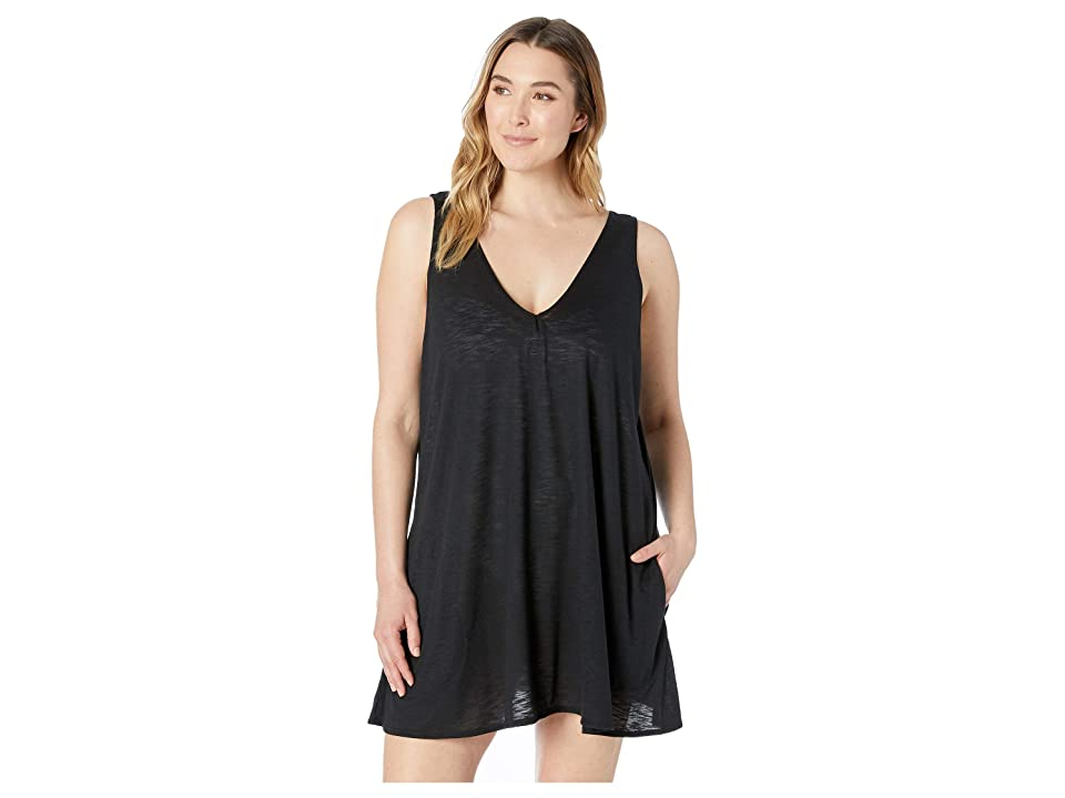 BECCA by Rebecca Virtue Plus Size Tank Dress Cover-Up (Black) Women