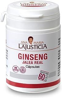 Ana Maria Lajusticia - Ginseng con jalea real – 60 cápsulas reduce el cansancio y la fatiga, refuerza el sistema inmunitario. Envase para 60 días de tratamiento.