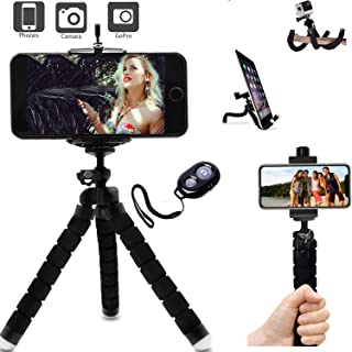 Octopus Mini Tripod, Best Mini Flexible Tripod with Remote Shutter and Universal Clip for Smart Phone and Sports Gopro, Great for Fitness Gym Videos and Selfies Guaranteed. Selfie Stick, Phone Tripod