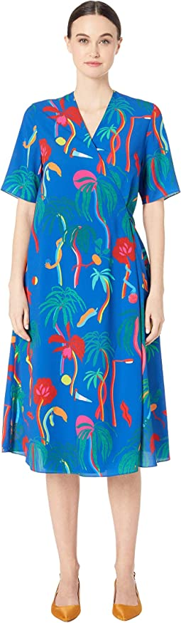 Tropical Print Shirtdress