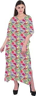 RADANYA Cotton Floral Boho Gypsy Caftan Kaftan Women's Cocktail Maxi Long Dress