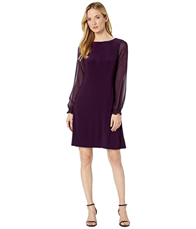 LAUREN Ralph Lauren Jersey Georgette-Sleeve Dress Women