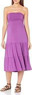 Maternal America Women's Maternity Convertible Strapless Dress/Skirt, Magenta, X-Small