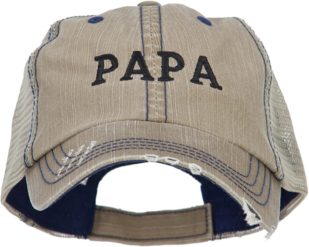 Papa Embroidered Low Profile Cotton Mesh Cap