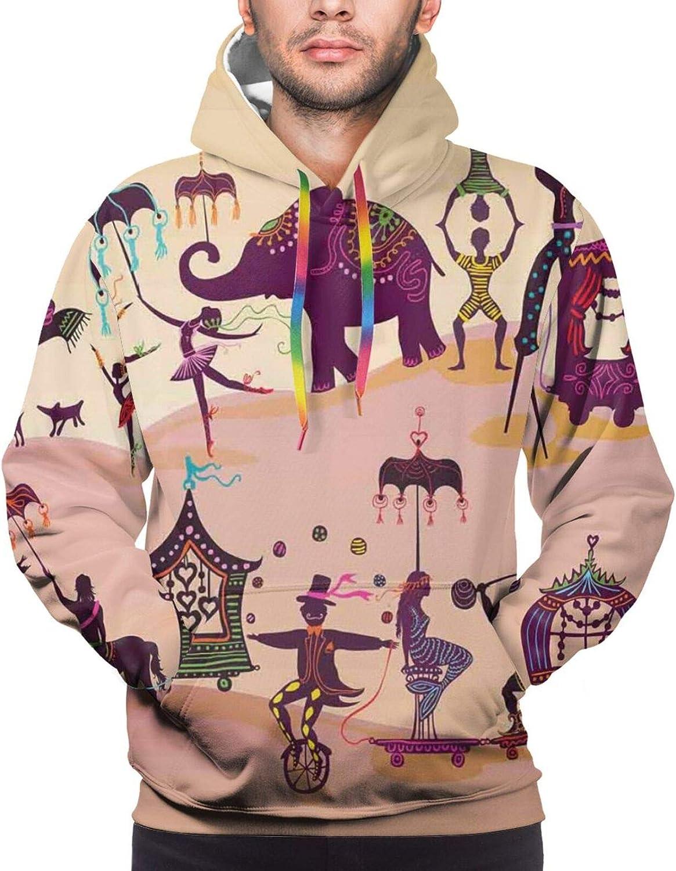 Men's Hoodies Sweatshirts,Graphic Monochrome Goat Head Artwork On Radiating Lines Starburst Pattern
