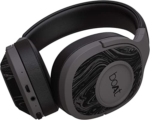 boAt Rockerz 550 Over-Ear Wireless Headphone with Ergonomic Aesthetics, Plush Padded Earcups, Immersive Audio, Blueto...