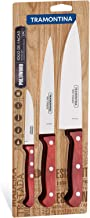 Tramontina 21198771 3 Pieces Polywood Knives Set, Red