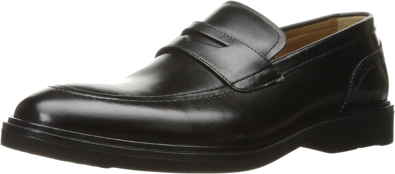 Florsheim Men's Hamilton Slip-On Penny Loafer, Black, 7 3E US