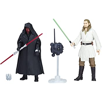 STAR WARS Toy Figure Darth Maul & Quigon Jinn, 2 Pack