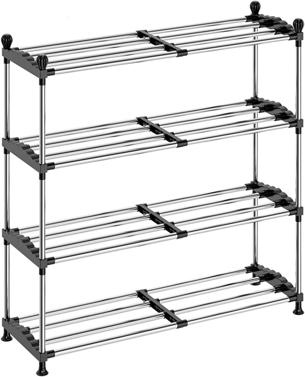 Shoe Philadelphia Mall 2021 model Rack Organizer for Closet Entryway Expandable DUSASA 4-Tier