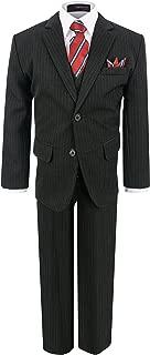 Gino Giovanni Boy's Formal 2 Buttons Pinstripe Dresswear Suit Set
