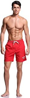 Men's Guard Quick Dry Mesh Lining Pockets Swim Trunks Water Shorts Swimsuit