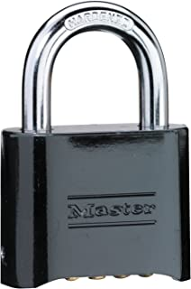 Master Lock 178D Locker Lock Set Your Own Combination Padlock, 1 Pack, Black