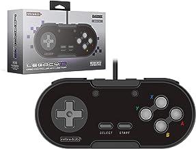 Retro-Bit Legacy16 USB Wired Controller - Onyx Black(Nintendo Switch//)