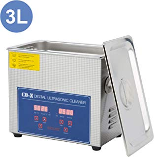 CO-Z 3L Professional Ultrasonic Cleaner with Digital Timer&Heater for Jewelry Glasses Watch Dentures Small Parts Circuit Board Dental Instrument, Industrial Commercial Ultrasound Cleaning Machine