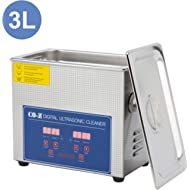 CO-Z 3L Professional Ultrasonic Cleaner with Digital Timer&Heater for Jewelry Glasses Watch...