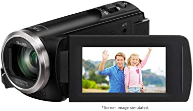 Panasonic Full HD Video Camera Camcorder HC-V180K, 50X Optical Zoom, 1/5.8-Inch BSI..