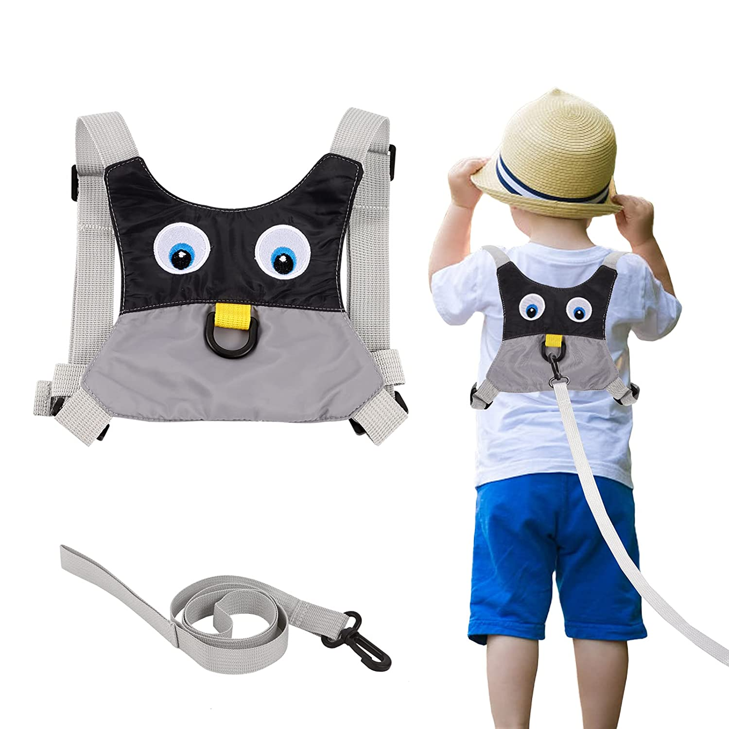 Baby Anti Lost Safety Walking Harness Toddler Safety Leash for Babies & Kids Boys and Girls(Grey)