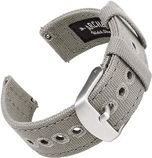 | Correas Reloj Lona de Liberación Rápida para Hombre y Mujer | para Relojes y Smartwatch, 18mm, 20mm, 22mm