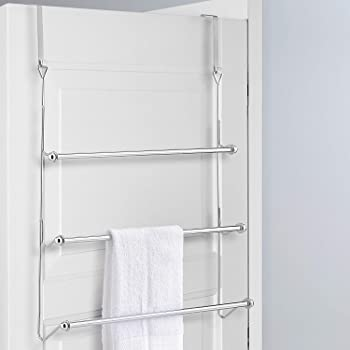 Chrome 3 Tier Over Door Towel Rail Rack Hanger Holder Bathroom Organizer Storage Amazon Co Uk Diy Tools